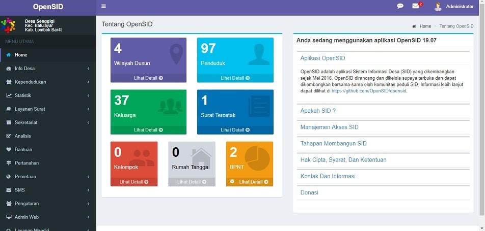 OpenSID - Website Sistem Informasi Desa framework CodeIgniter